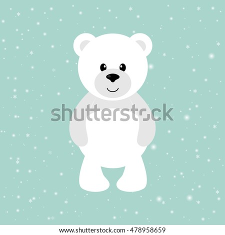 christmas card polar bear scarf stock vector 321973958. Black Bedroom Furniture Sets. Home Design Ideas