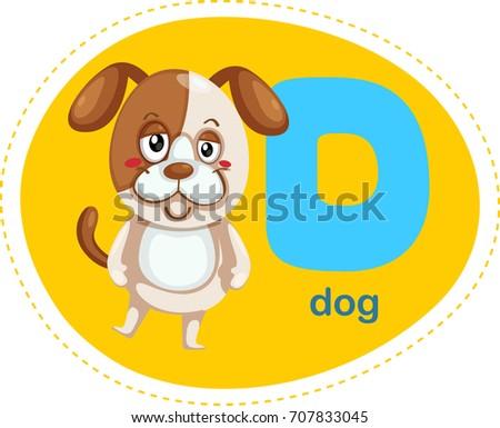 Cartoons alphabet letter e elephant stock vector 707836042 cartoons alphabet letter d is for dog thecheapjerseys Images