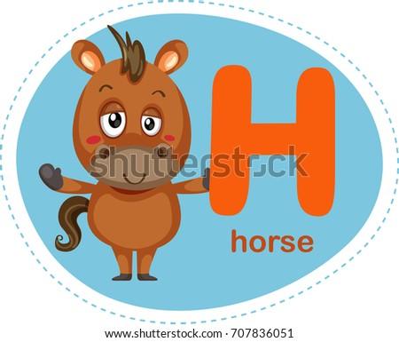 Cartoons alphabet letter e elephant stock vector 707836042 cartoons alphabet letter h is for horse thecheapjerseys Images