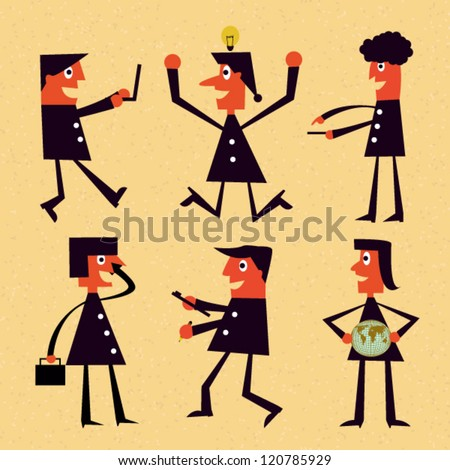 Cartoons vector business - stock vector
