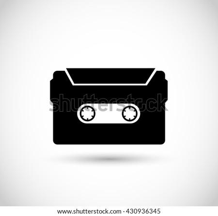 Casette, tape illustration, icon vector - stock vector