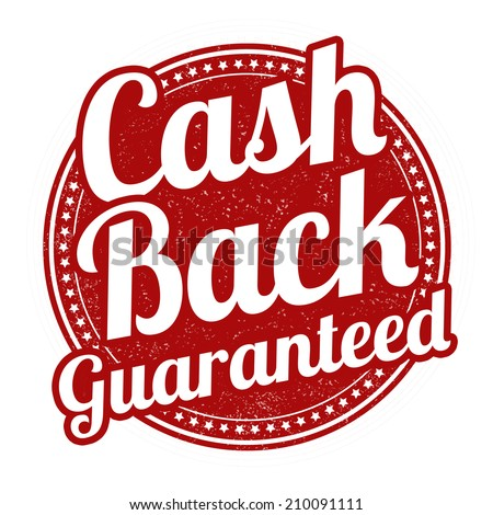 Cash back grunge rubber stamp on white background, vector illustration - stock vector