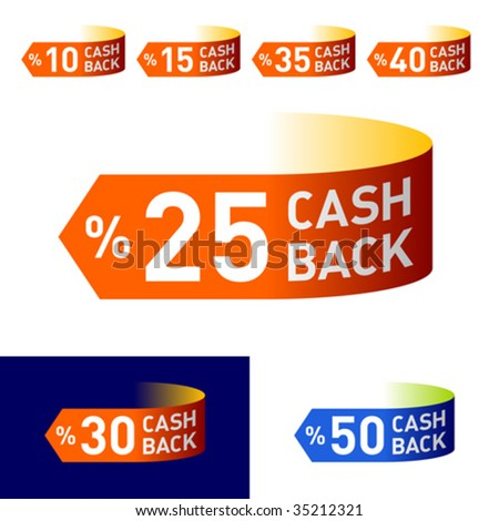 Cash-Back. Vector emblem. You can easily change colors and background. - stock vector