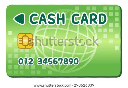 Cash card / Simple and pretty / Green