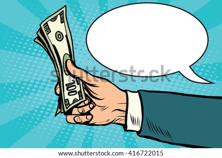 Cash dollars money Finance retro vector - stock vector