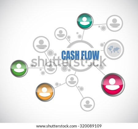 cash flow people diagram sign concept illustration design graphic icon - stock vector