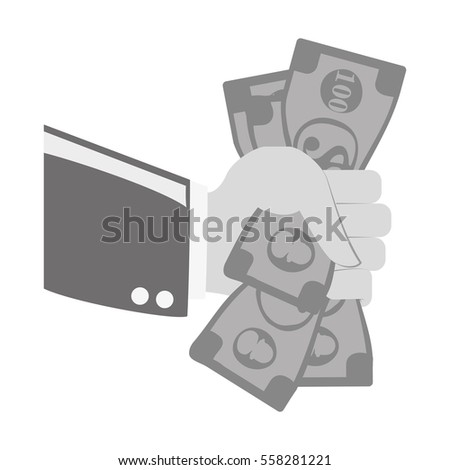cash payment economy icon image vector illustration design