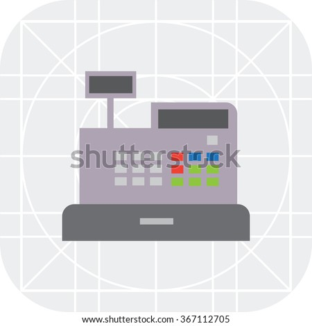 Cash register icon - stock vector