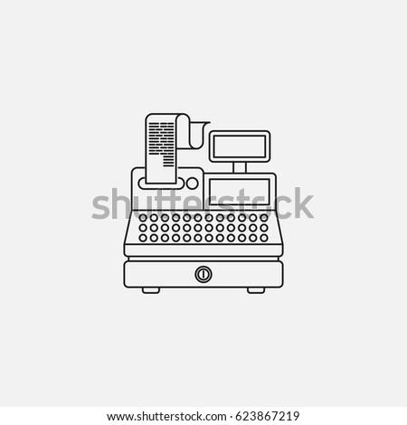cash register linear icon
