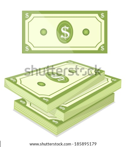Cash - Vector illustration - stock vector