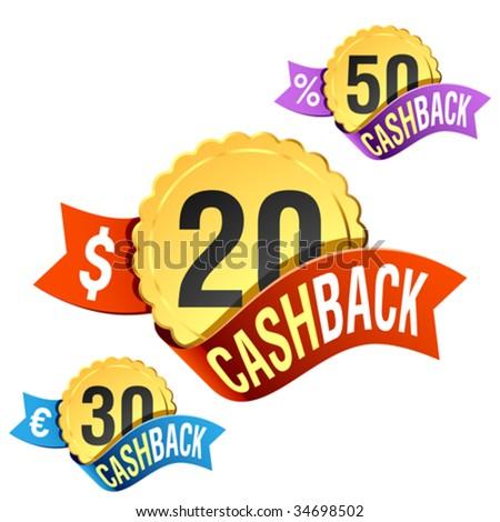 CashBack. Vector emblem. - stock vector