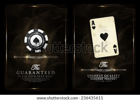 Casino background-Vintage style-Ace, Vip, casino, poker - stock vector