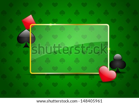 Casino background with cards pattern - stock vector