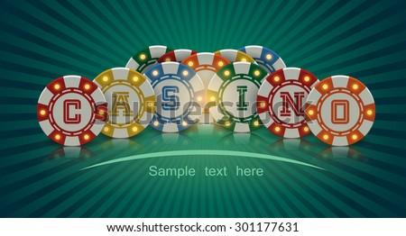 Casino banner - stock vector