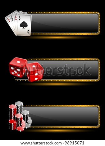 Casino banners - stock vector