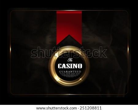casino card collection-vintage-elegant - stock vector
