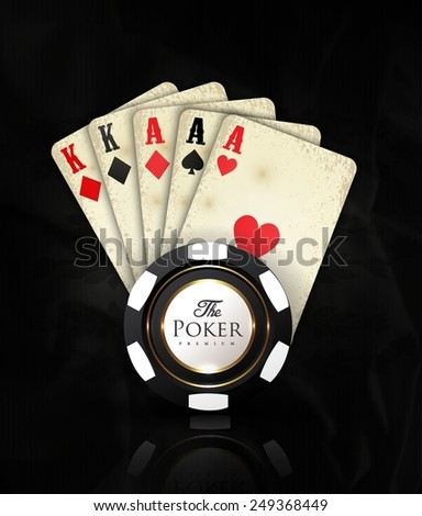 Casino card design-vintage-elegant-poker-casino-vip-ace - stock vector