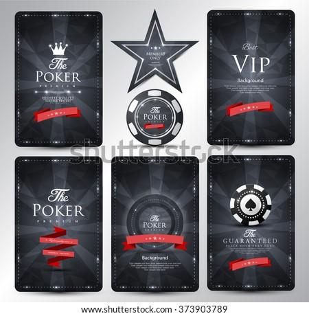 Casino card design-Vintage style-elegant - stock vector