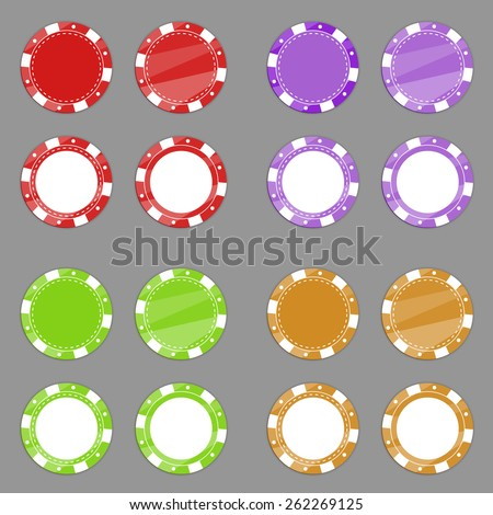 Casino chips. Vector. - stock vector