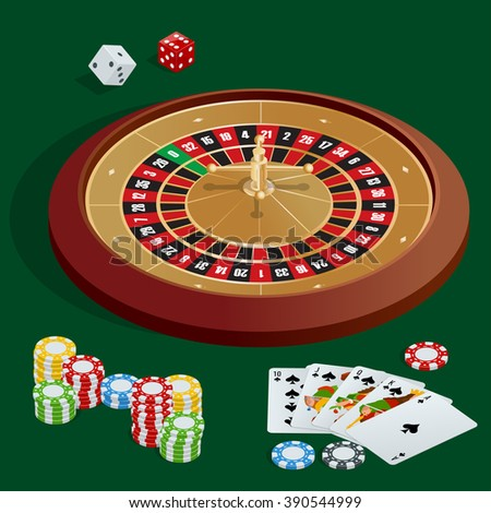 Casino concept, Casino icon, Casino 3d, Casino vector, Casino background, Casino cards, Casino chips, Casino craps, Casino roulette, Casino isometric, Casino illustration, Casino poker game - stock vector