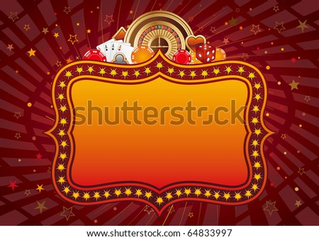 casino design elements and neon sign,abstract background
