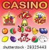 Casino design elements collection for various design - stock vector