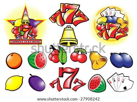 Casino design elements vector collection - stock vector