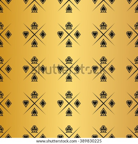 Casino  design elements vector icons. Casino games.Ace playing cards with chips on background.Set of gambling chip