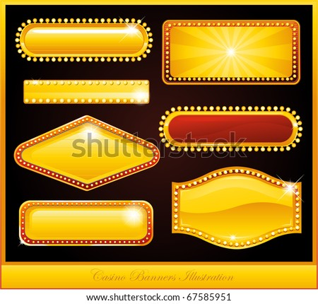 Casino design neon sign - stock vector