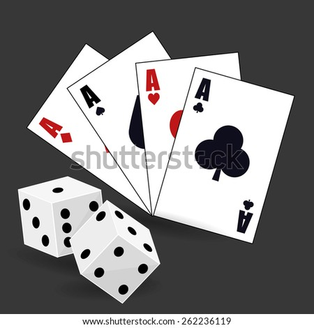 Casino design over gray background, vector illustration.