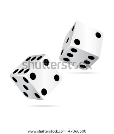 Casino dices icon. vector illustration. - stock vector