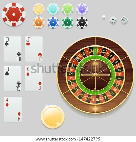 Casino elements collection - stock vector