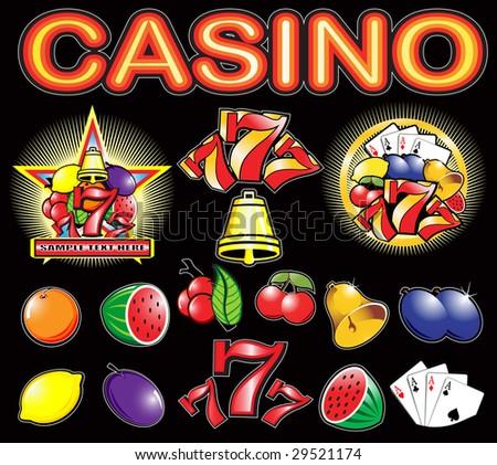 Casino elements high detail vector - stock vector