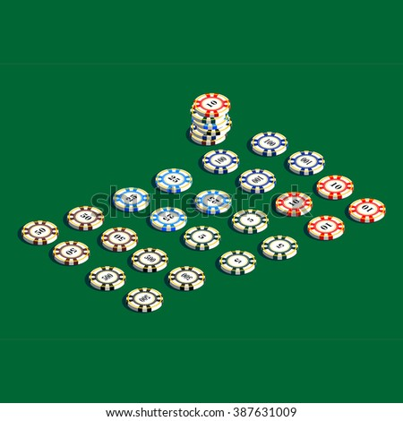 Casino gambling chips set. A set of chips for a casino in a vector format.