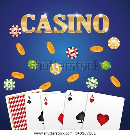 Casino gambling game graphic design, vector illustration eps10 - stock vector