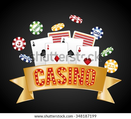Casino gambling game graphic design, vector illustration eps10