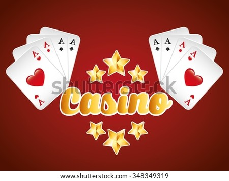 casino game design, vector illustration eps10 graphic
