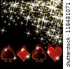 Casino greeting card, vector illustration - stock photo