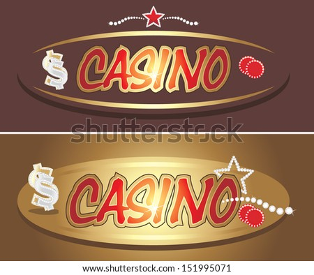 Casino icons for design. Vector