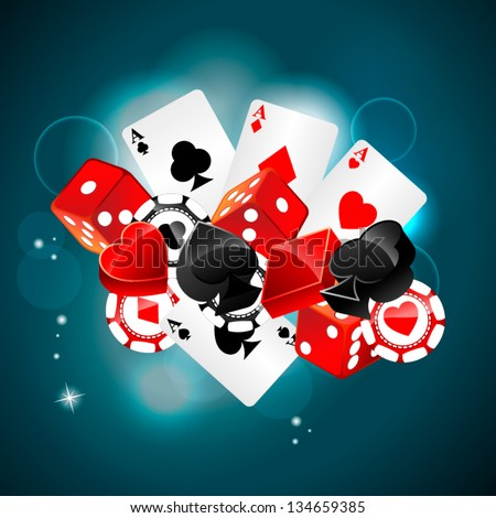Casino playing card element - stock vector
