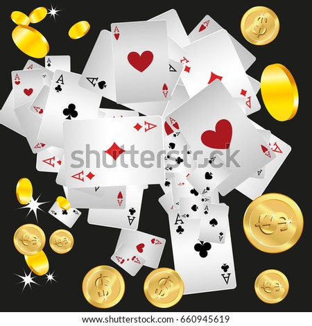 Casino. Playing Cards. Money