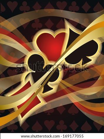 Casino Poker card, vector illustration - stock vector