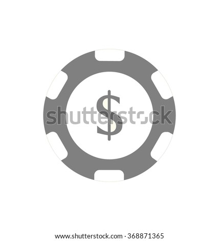 Casino poker chip on white background vector illustration