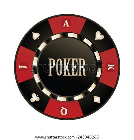 Casino, Poker chip vector design - stock vector