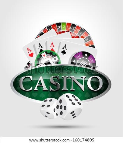 Casino 1 - poker winner - stock vector