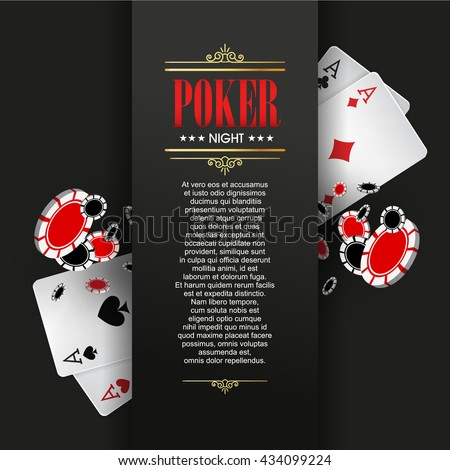 Casino Poster Banner Background Flyer Template Stock Vector