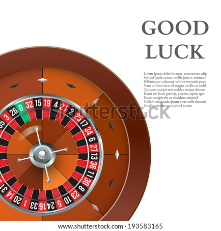Casino Roulette. Vector - stock vector