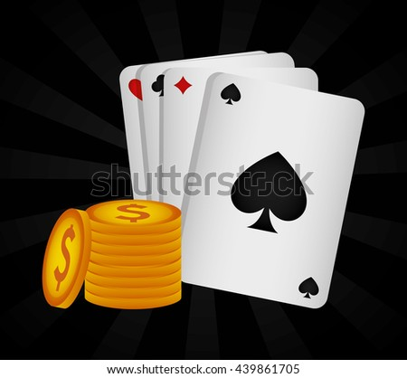 Casino royal games design - stock vector