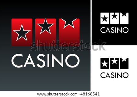 Casino slotr game on black background. Vector available - stock vector