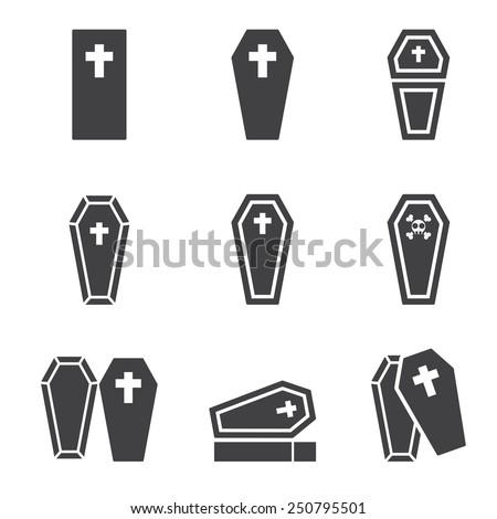 casket icon - stock vector